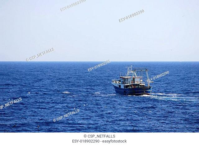fishing boat at sea