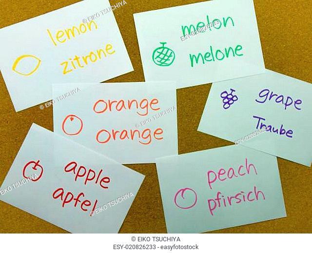 Language Flash Cards German