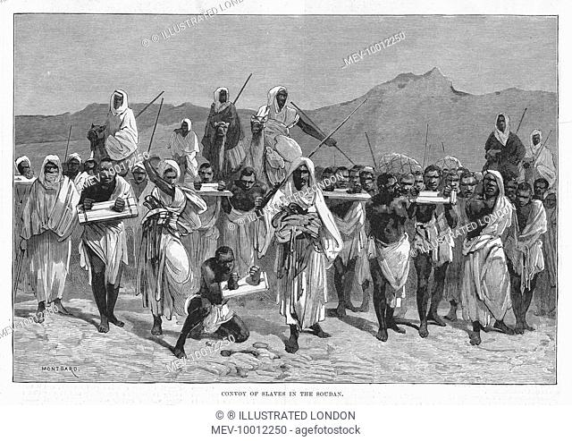 EAST AFRICA A convoy of slaves in the Sudan