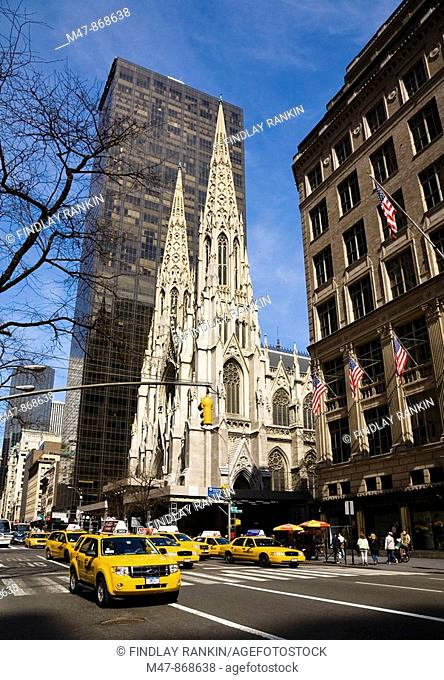 St Patrick's Cathedral, Fifth Avenue, New York, USA