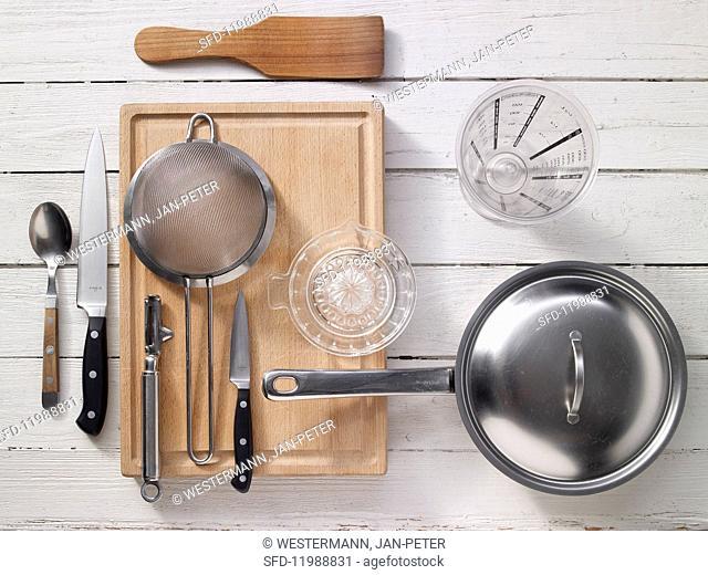 Kitchen utensils for making potatoes