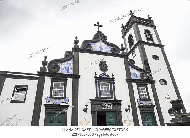 Parish church, Santo Antonio, Santo Antonio, Sao Miguel island, Azores, Portugal