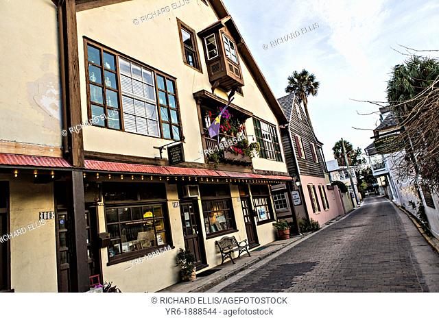 Aviles Street in the historic district in St  Augustine, Florida  St Augustine is the oldest city in America