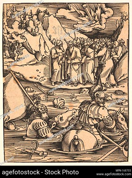 The Egyptians Crossing the Red Sea from Johann Geiler von Keisersberg, Das Buch Granatapfel im Latein Genant Malogranatus