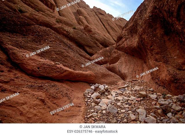 Travel destination and moroccan landmark - Dades Canyon, Atlas Mountains, Morocco