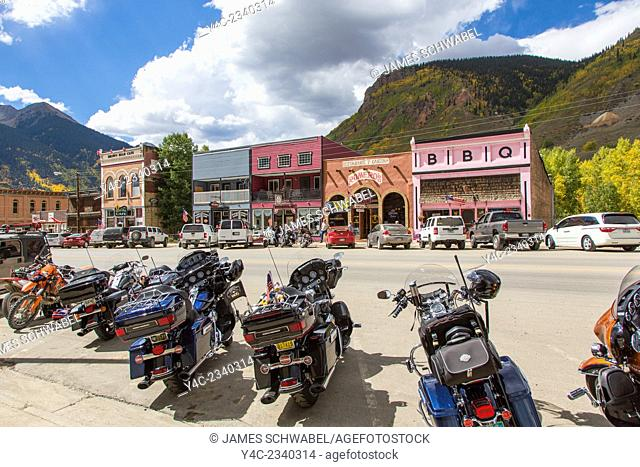 Historic old town of Siverton in The San Juan Mountains of Colorado