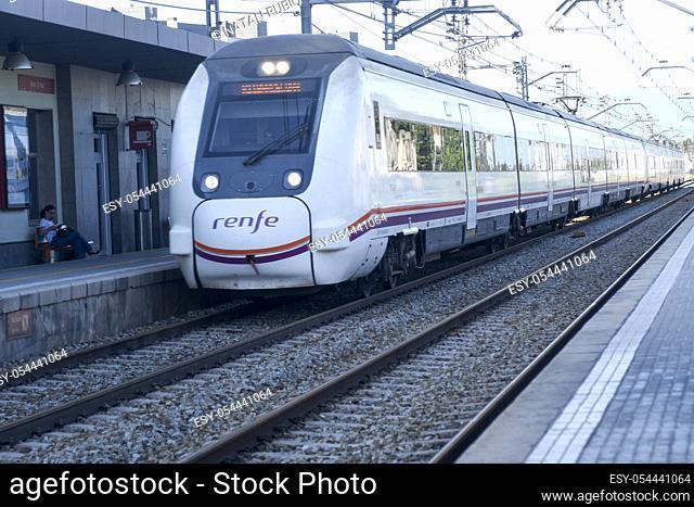 Subway train. Mollet del Valles. Barcelona, Spain