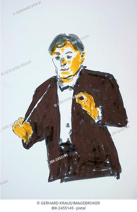 Conductor, illustration, Gerhard Kraus, Kriftel, Germany