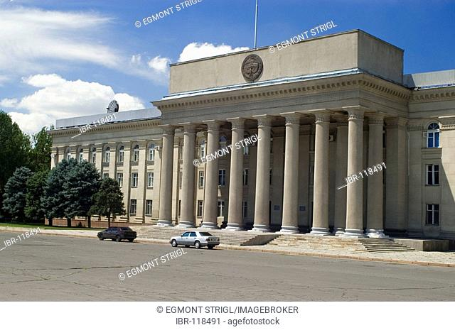 Parliament building in Bishkek (Frunse), Kyrgyzstan