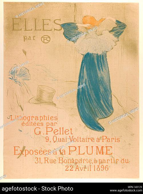Elles (poster for 1896 exhibition at La Plume). Artist: Henri de Toulouse-Lautrec (French, Albi 1864-1901 Saint-André-du-Bois); Publisher: Gustave Pellet...