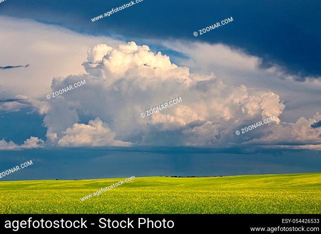Prairie Storm Clouds Saskatchewan Canada Summer Danger