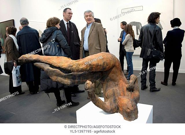 Paris, France, Contmeporary Arts Exhibit, FIAC, American Modern Sculpture, by Eric Fischl, Ten Breaths: Tumbling Woman, 2008 FIAC Arts SHow