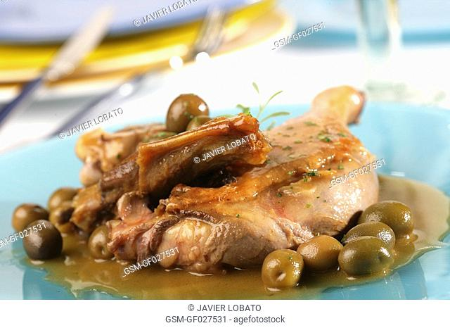 Duck with olives
