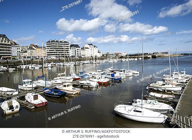 Cherbourg Harbor along Quai de Caligny, Cherbourg-Octeville, Manche Department, Normandy, France, Europe