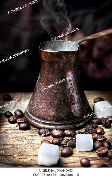 Oriental coffee pot
