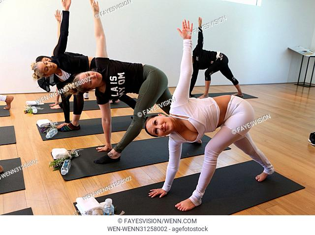 Draya Michele & Friends at AloYoga Featuring: Jasmine Sanders, Adrienne Eliza Houghton, Adrienne Bailon Where: Beverly Hills, California