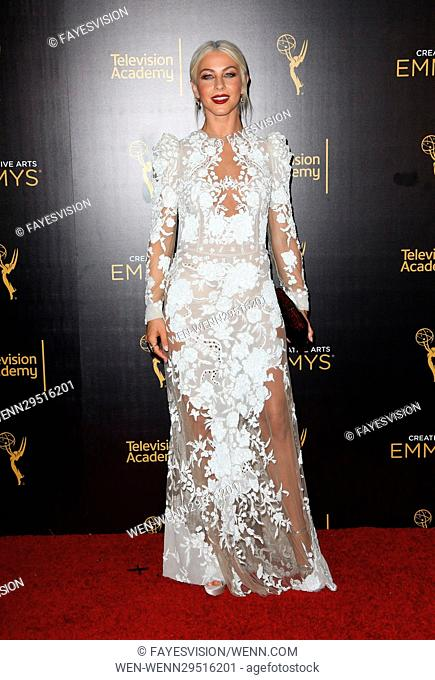 2016 Creative Arts Emmy Awards - Press Room - Day 2 Featuring: Julianne Hough Where: Los Angeles, California, United States When: 11 Sep 2016 Credit:...