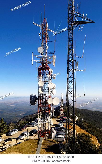 Communications tower, Mare de Deu Mont, Albanya, Girona, Spain