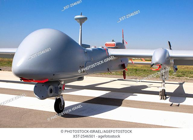 Israeli Air force (IAF) IAI Heron TP (IAI Eitan) an Unmanned Aerial Vehicle (UAV) developed by the Malat division of Israel Aerospace Industries