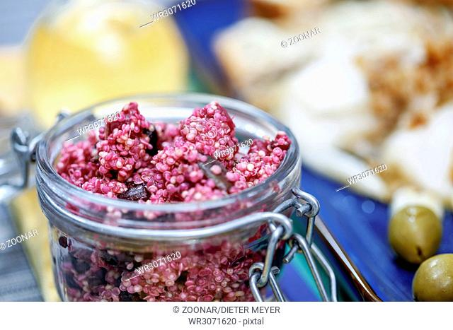 Quinoa salad with beetroot and chia seeds
