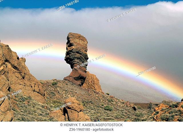 Teide Park with rainbow of Tenerife, Canaries