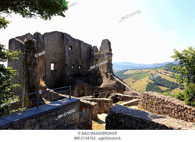 Ruins of Canossa Castle, Emilia Romagna, Italy, Europe