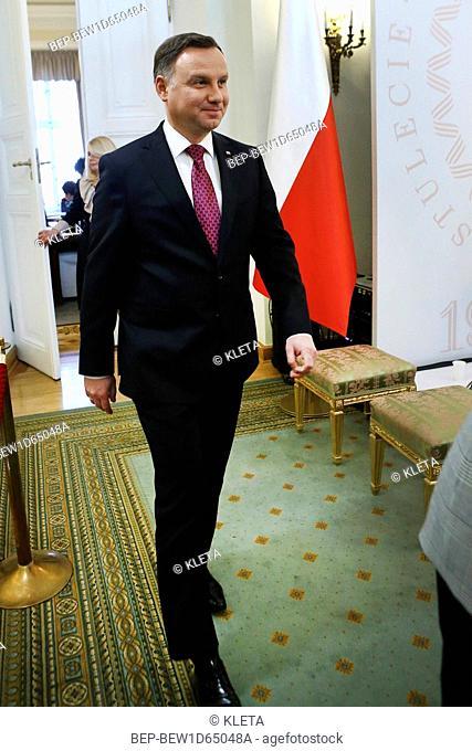 November 20, 2018 Warsaw, Poland. Pictured: President of the Republic of Poland Andrzej Duda