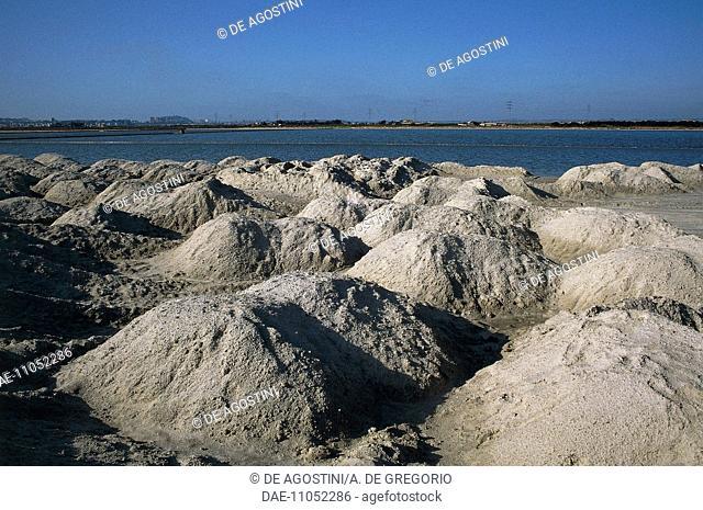Saltworks near Quartu Sant'Elena, Sardinia, Italy