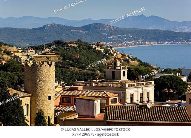 Begur  Pella i Forgas tower and Bonaventura Caner Batlle house Indian house  Costa Brava  Girona province  Catalonia  Spain