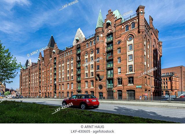 Historic Kontorhaus in hafencity, Hamburg, Northern Germany, Germany