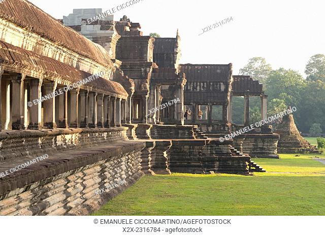 Angkor Wat Temple complex UNESCO World Heritage Site, Angkor, Siem Reap,Cambodia, Indochina, Southeast Asia, Asia
