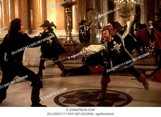 1993, Film Title: THREE MUSKETEERS, Director: STEPHEN HEREK, Studio: DISNEY, Pictured: STEPHEN HEREK, KIEFER SUTHERLAND, SWASHBUCKLERS