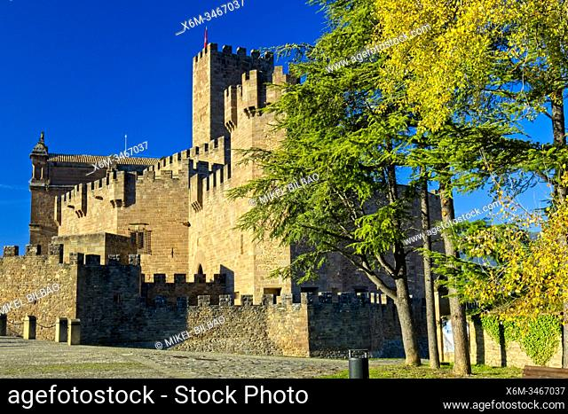 Castle of Xavier, the birthplace of Saint Francis Xavier. Navarre, Spain, Europe