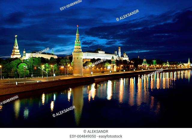Tower Kremlin and Moscow river