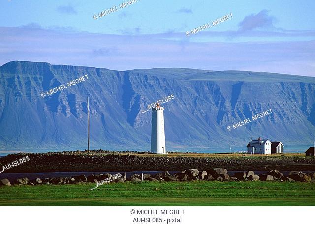 Islande - Reykjavik - Seltjarnarnes - Phare