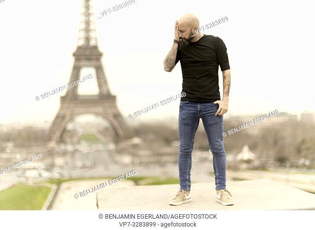 man in Paris, France