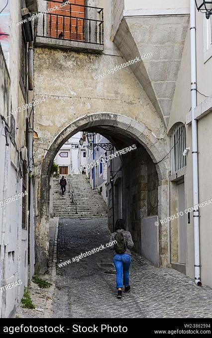 Alfama streets, Lisbon (Portugal)
