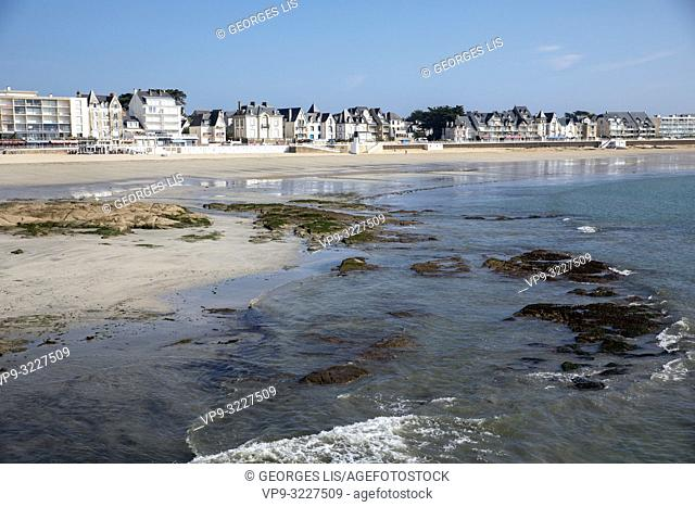 Beach, tide, Quiberon, Atlantic Ocean, Morbihan, Bretagne, France