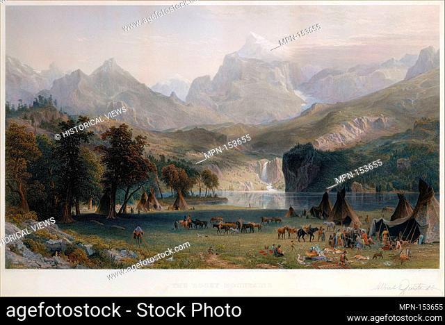 The Rocky Mountains, Lander's Peak. Artist: James Smillie (American, Edinburgh 1807-1885 Poughkeepsie, New York); Artist: Albert Bierstadt (American