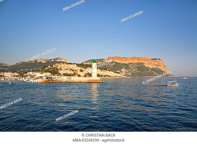 View to Cap Canaille, Provence, Massif of the Calanques, Provence-Alpes-Cote d'Azur, France