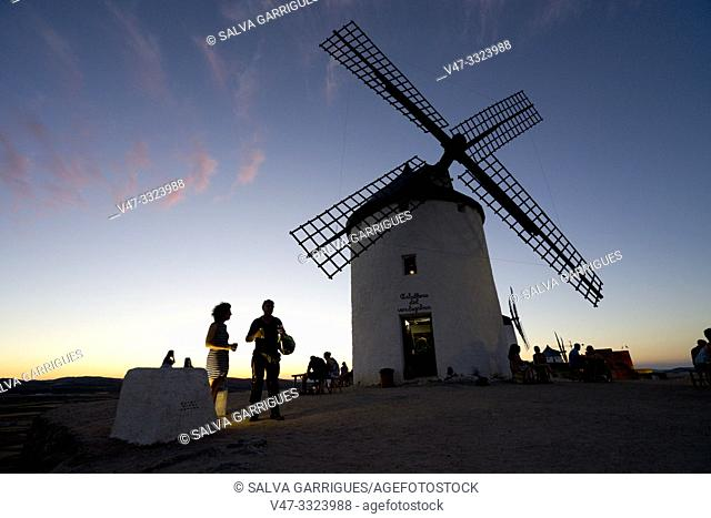 "The mills of Consuegra are a set of mills located in the so-called """"Calderico hill"""", in the Spanish municipality of Consuegra, in the province of Toledo"