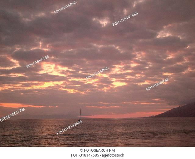 Kihei, Maui, HI, Hawaii, Leeward Coast, Maalaea Bay, Kamaloe, Kamaloe Beach, sunset, Southwestern Coast