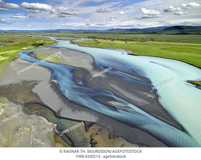 Til Solu Hvita river in Borgarfjordur, Western Iceland