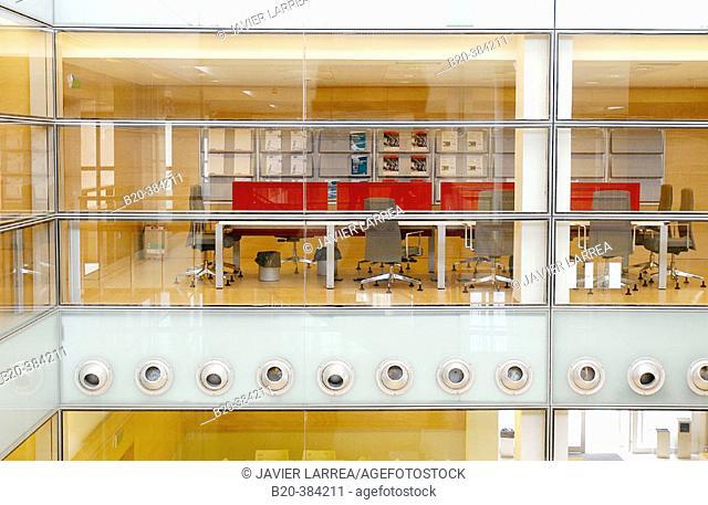 Offices and press room. Exhibitions pavilion. FICOBA. Irún. Guipúzcoa. Euskadi. Spain