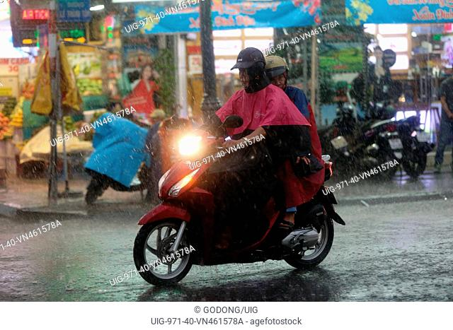 Heavy monsoon rain
