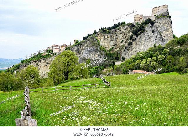 Italy, Emilia-Romagna, View to San Leo
