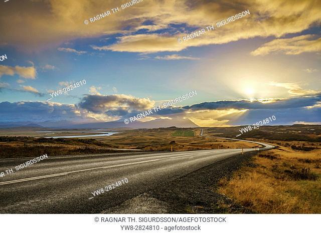 Route One, Borgarfirdi, Western Iceland