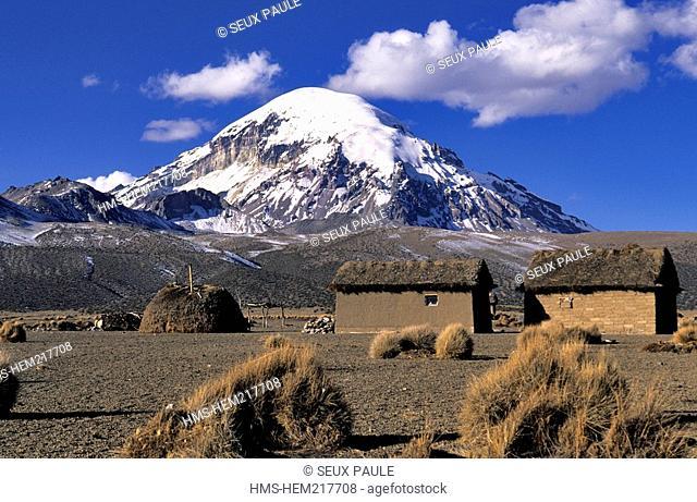 Bolivia, Oruro Department, Sajama Province, Sajama National Park, Sajama Volcano