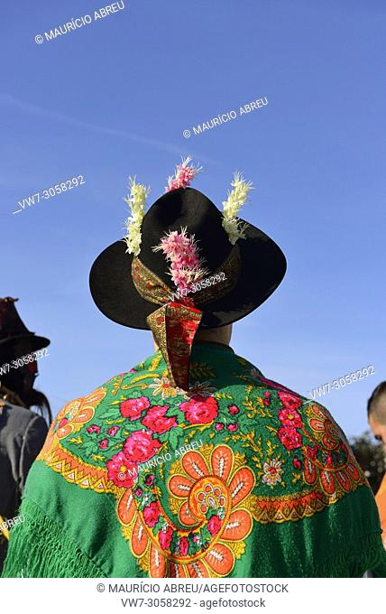 Detail of the traditional costume of the folk groups called Pauliteiros de Miranda. Constantim, Tras-os-Montes. Portugal