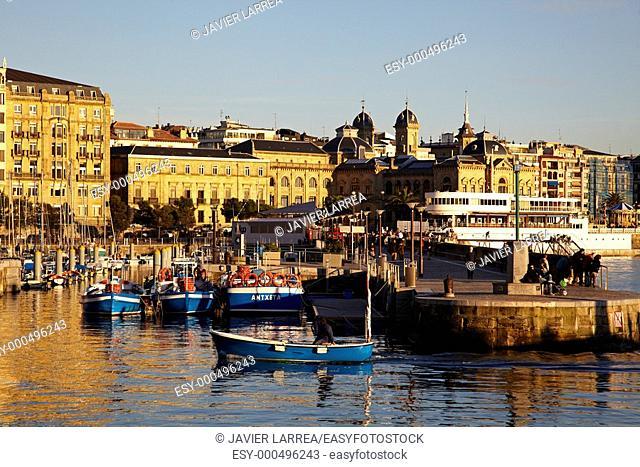 Fishing port, Donostia, San Sebastian, Gipuzkoa, Euskadi, Spain